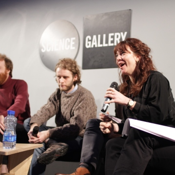 Lana Swartz responds to audience questions.
